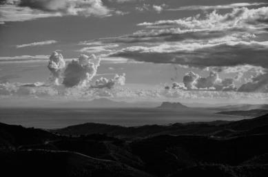 Gibraltar vor Afrika (von Madroñal aus)
