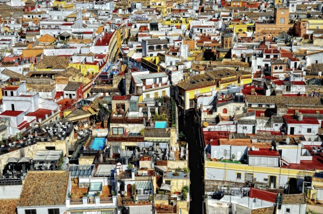Blick von der Kathedrale (Sevilla)