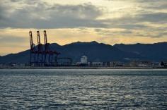 Hafen am Abend (Malaga)