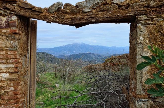 Blick in die andalusischen Berge (oberhalb von Malaga)