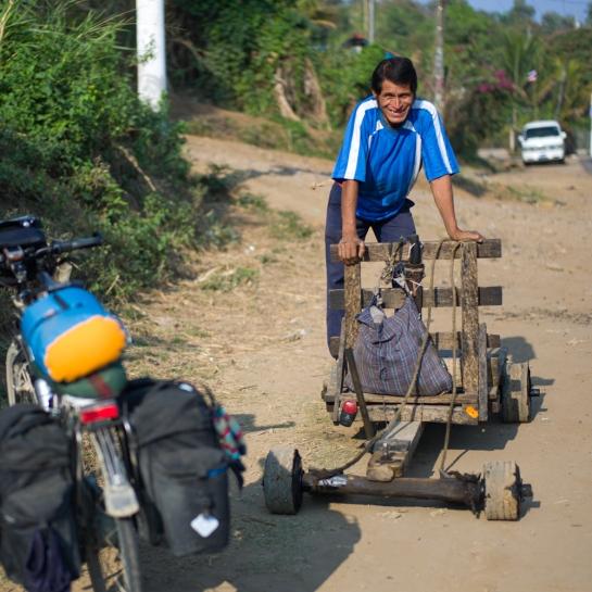 Seifenkistenfahrer in Ahuachapán