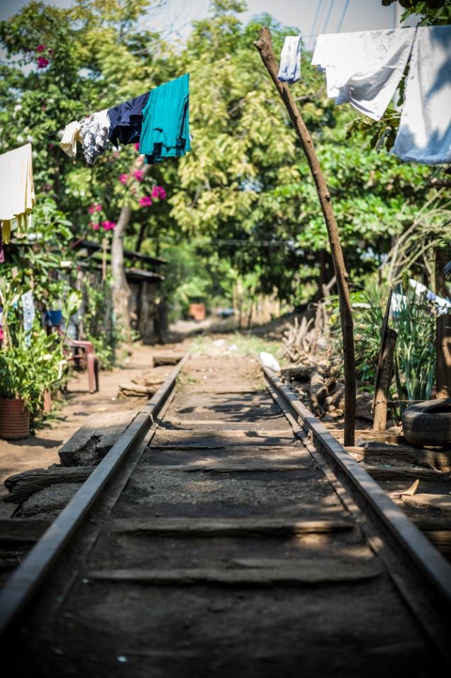 Leben an der Bahn in El Salvador