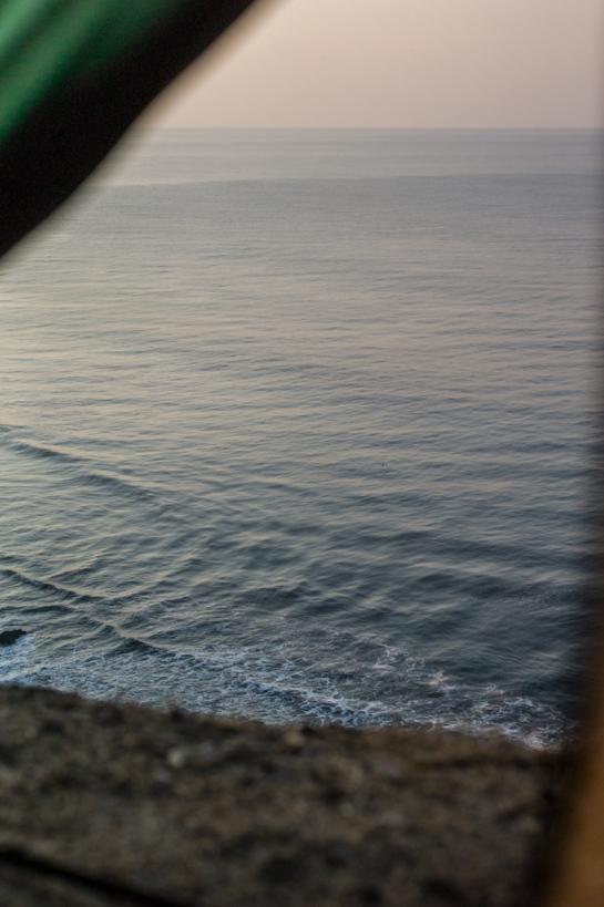 Blick aus dem Zelt auf den morgendlichen Pazifik