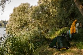 Camping Lot along the Inn River (Bavaria)