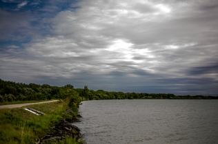 Danube River in Austria, towards Vienna (Austria)