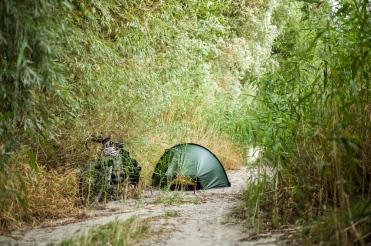 Campsite on Danube Island in Vienna (Austria)