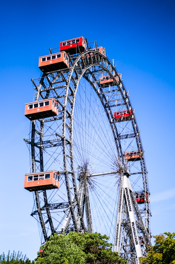 Wiener Riesenrad in Wurstelprater Amusement Park (Austria)