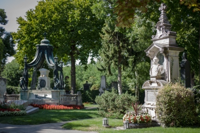 Graves in Central Cemetery, Vienna (Austria)